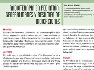 RADIOTERAPIA EN PEDIATRIA: GENERALIDADES Y RESUMEN DE INDICACIONES