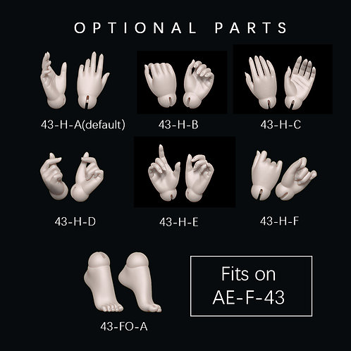 1/4 Girl parts(fits AE-F-43)