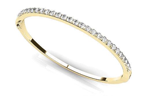 14k yellow gold diamond bangle #B70122-2