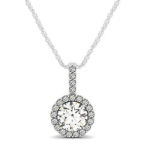 14k white gold diamond pendent