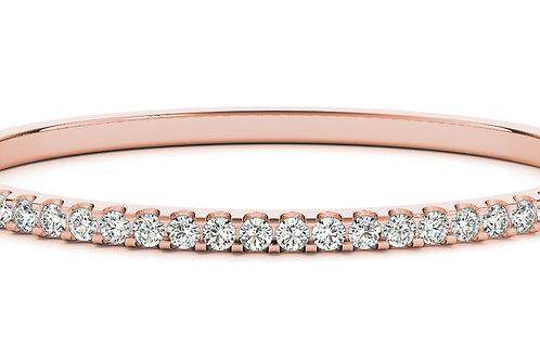 14k rose gold diamond bangle #B70485-4