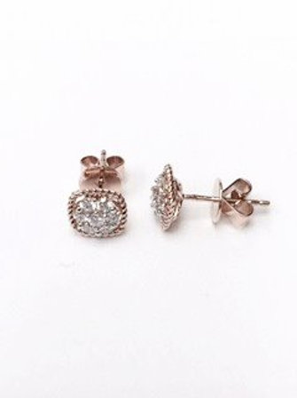 18k rose gold diamond earring