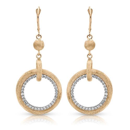 14k yellow gold diamond earring S1ER260