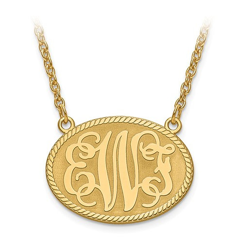 14k yellow gold monogram