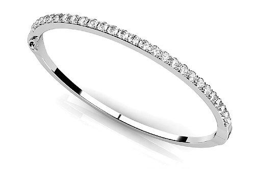 14k white gold diamond bangle #B70122-2