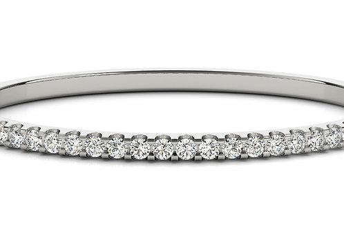 14k rose white gold diamond bangle #B70485-4