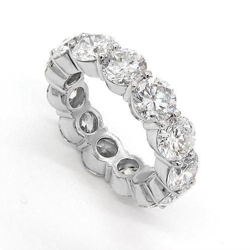 8.20 ctw H - SI1/SI2 Round Diamond Eternity Band Platinum 950