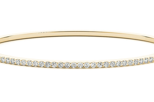 14k yellow gold diamond bangle #B70510