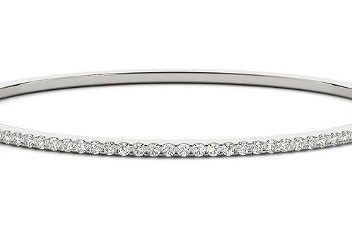 14k white gold diamond bangle #B70510