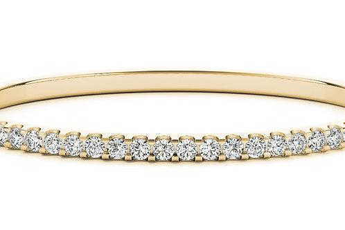 14k yellow gold diamond bangle #B70485-4