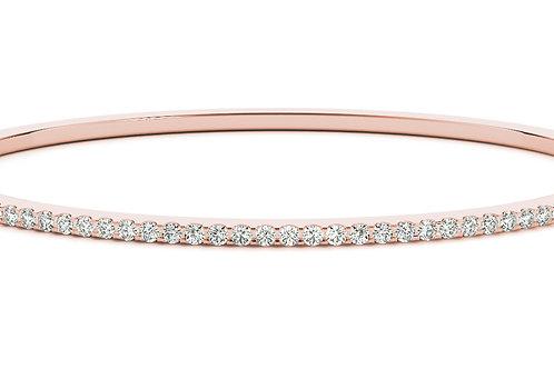 14k rose gold diamond bangle #B70510