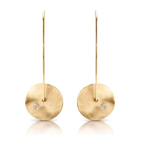 14k yellow gold diamond earring S1ER221