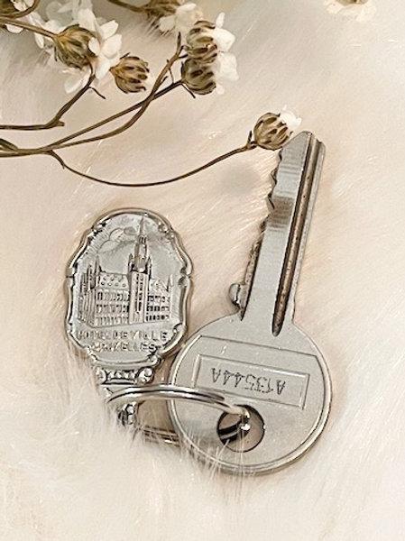 Porte clefs métal argenté HOTEL DE VILLE BRUXELLES