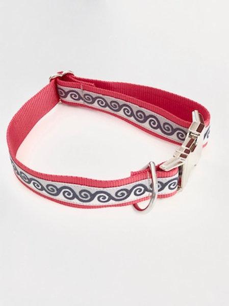 Collier pour chien made in France Tinou Click CELEST LOVE BLEU