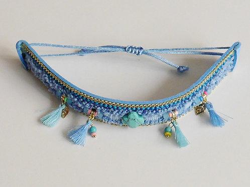 Tinou bijou collier Boho bleu