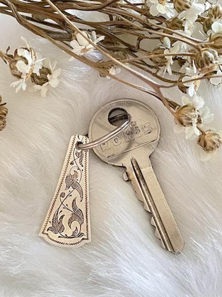 Porte clefs long petit modele en Argent