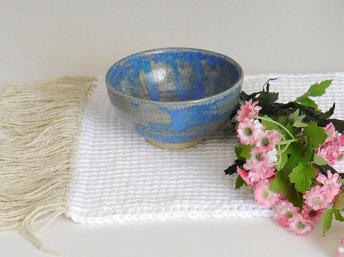 Le Tinou-déjeuner,bol pour croquettes ou eau. Douceur bleue