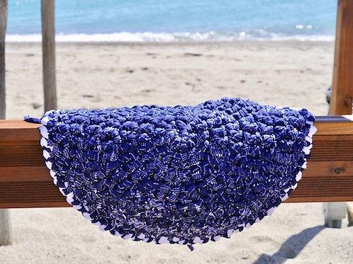 Tapis de plage pour chiens GRUNGE BEACH DOUCEUR BLEU