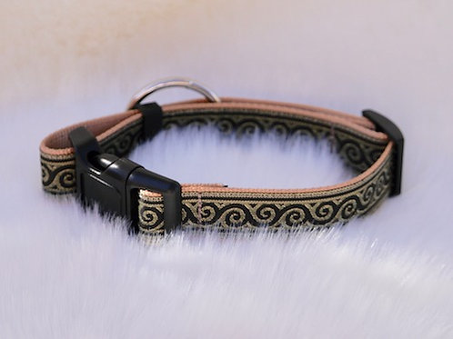 Collier pour chien made in France Tinou Click GOLDY BEIGE