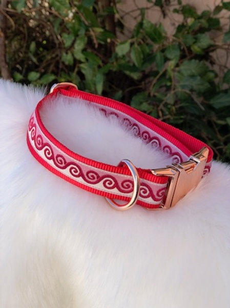 Collier pour chien made in France Tinou Click CELEST LOVE RED