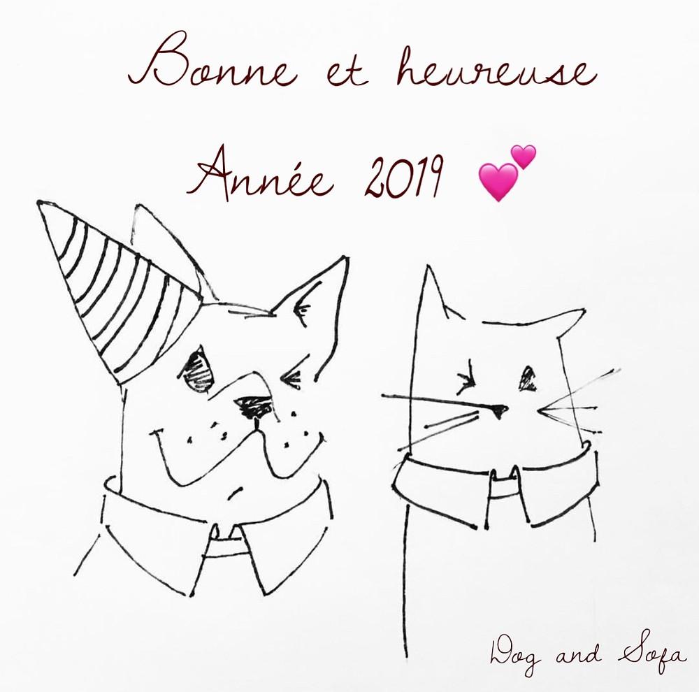 Parole de chien et Dog and Sofa vous souhaitent une belle Année 2019