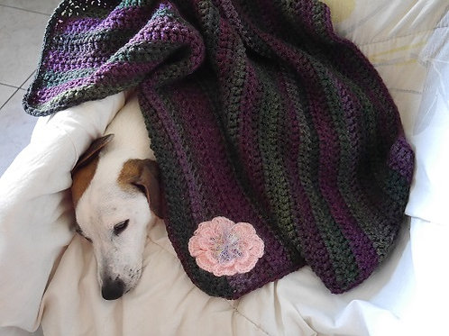 La couverture Douceur Violetta hivernale. Couverture pour chiens