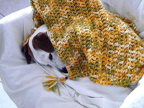 La couverture Orange Juce. Couverture pour chiens