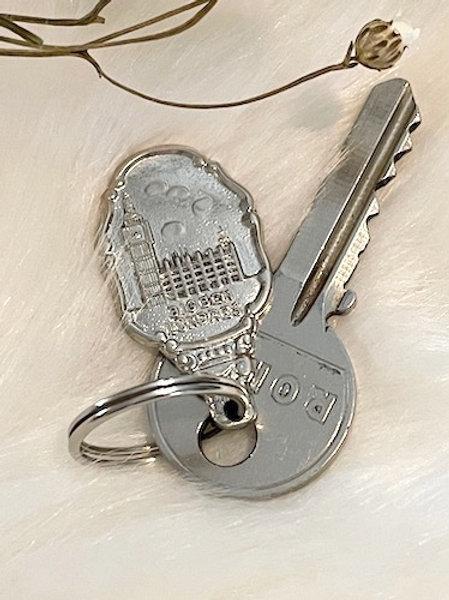 Porte clefs métal argenté BIG BEN LONDRES