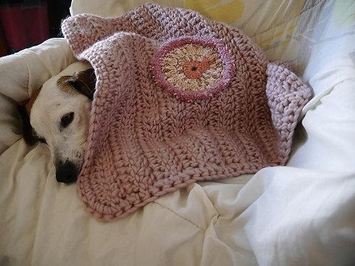 La couverture Mandala Rose. Couverture pour chiens