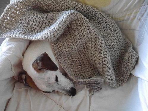 La couverture Ponpon Gris. Couverture pour chiens