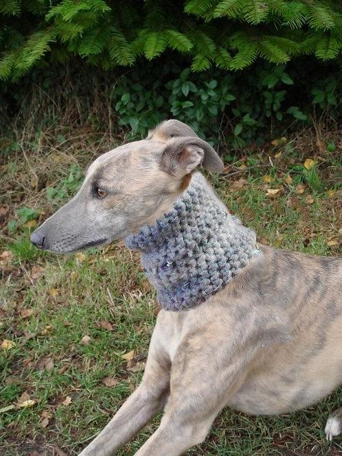 Tinou-Snood pour lévriers Tender Grey