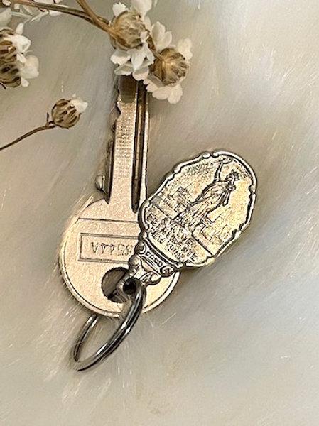 Porte clefs métal argenté STATUE DE LA LIBERTE New York