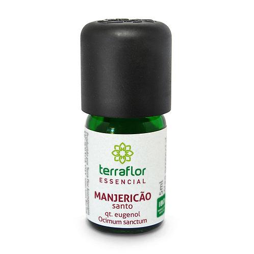 Óleo Essencial de Manjericão Santo qt. eugenol 5 ml - Terra Flor