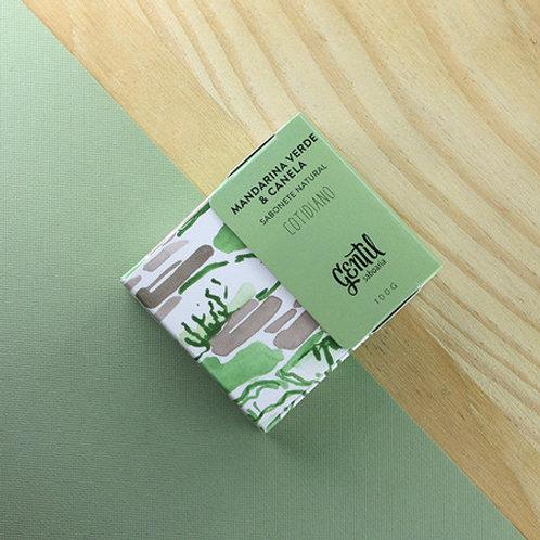Sabonete Natural Mandarina Verde e Canela - Gentil Saboaria