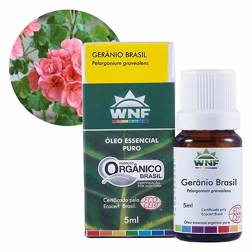Óleo Essencial Orgânico de Gerânio Brasil 5 ml - WNF