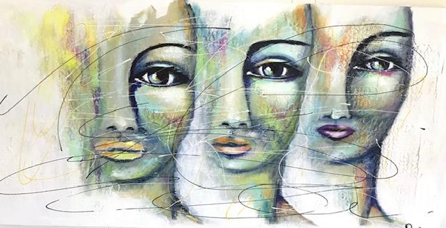 Le Trio, 20x40