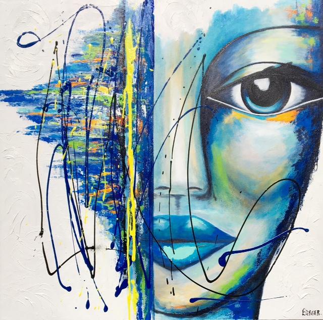 """Blue Dream, 36""""x 36"""""""