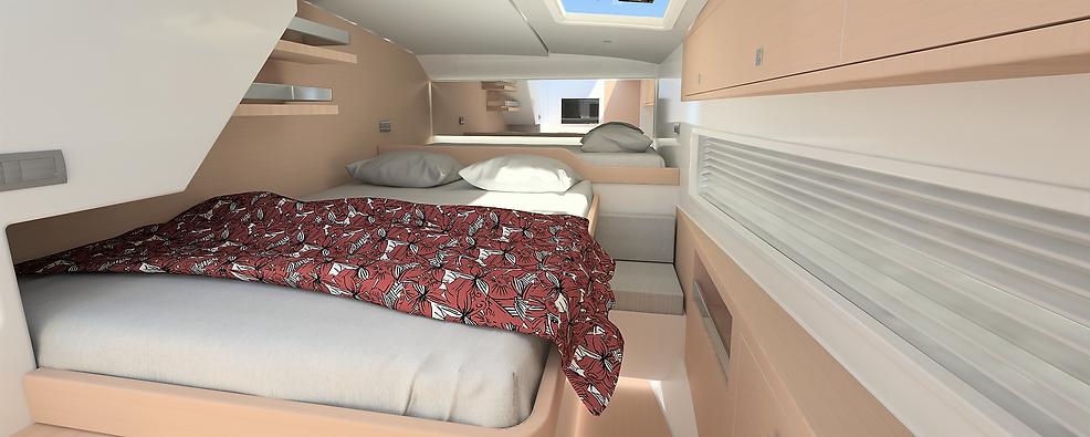 M37 Power Catamaran Guest Cabin Interior
