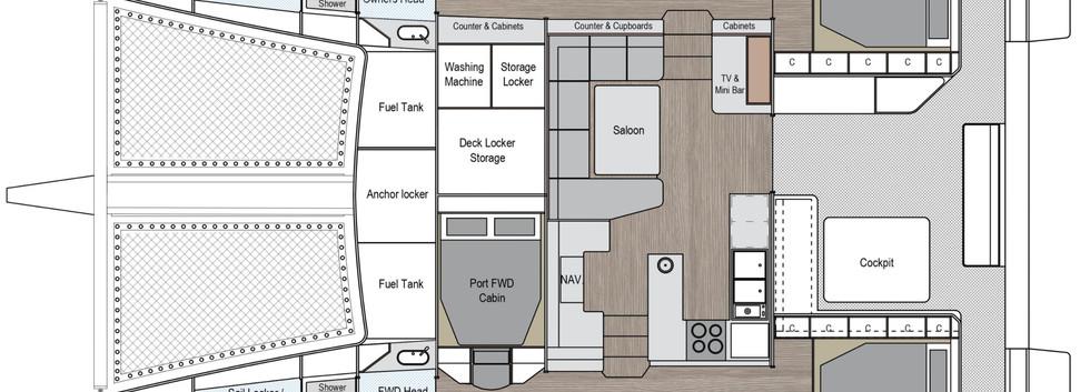 SF46 3 Cabin Version Layout