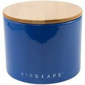 Airscape Ceramic 32 oz Coffee Storage - Cobalt Blue