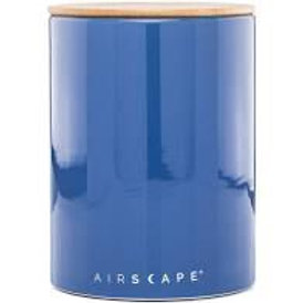 Airscape Ceramic 64 oz Coffee Storage - Cobalt Blue