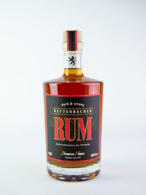 Kettenbacher Rum -dark & strong- 50 % vol. 0,5 Liter