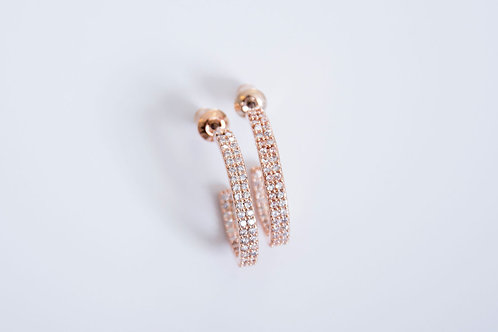 Rose Gold plated & Cubic Zirconia Earrings