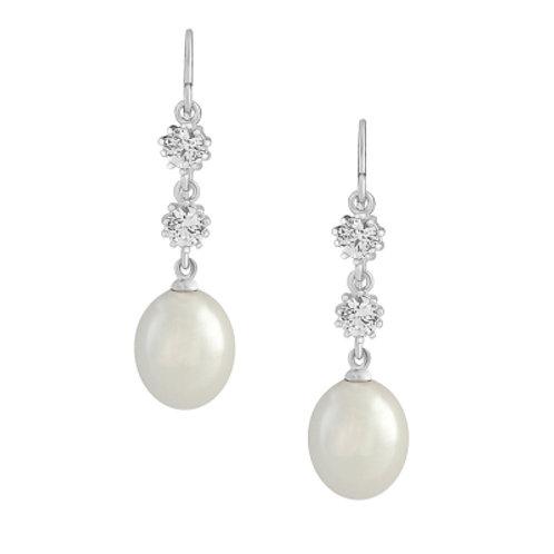 Beatrice pearl drop earrings