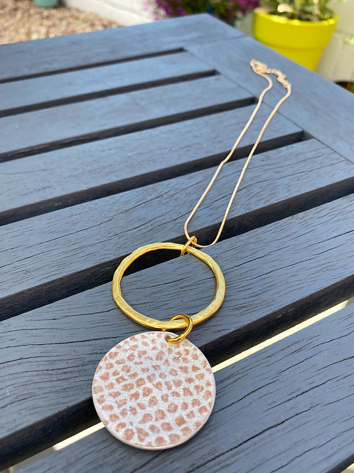 Gold Coffee Pod Necklace
