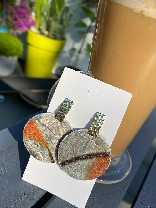 Tropical pattern earrings