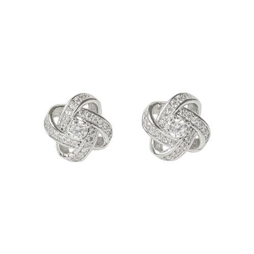 Crystal Knot Earrings
