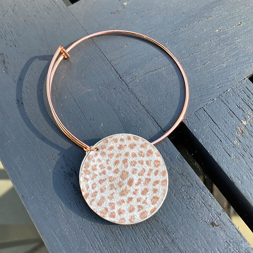 Leopard print adjustable bangle