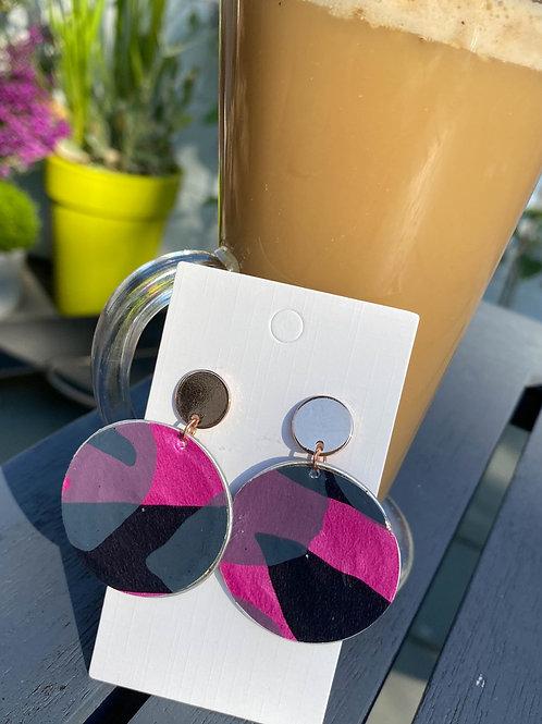 Abstract pattern earrings