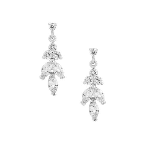 Constance cubic zirconia drop earrings